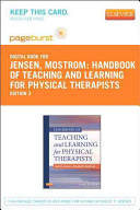Handbook of Teaching and Learning for Physical Therapists - Pageburst E-Book on Vitalsource (Retail Access Card)