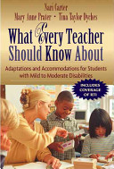 What Every Teacher Should Know about Making Accommodations and Adaptations for Students with Mild to Moderate Disabilities