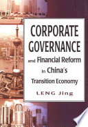 Corporate Governance And Financial Reform In China S Transition Economy