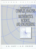 Cover of Fundamentals of Complex Analysis for Mathematics, Science, and Engineering