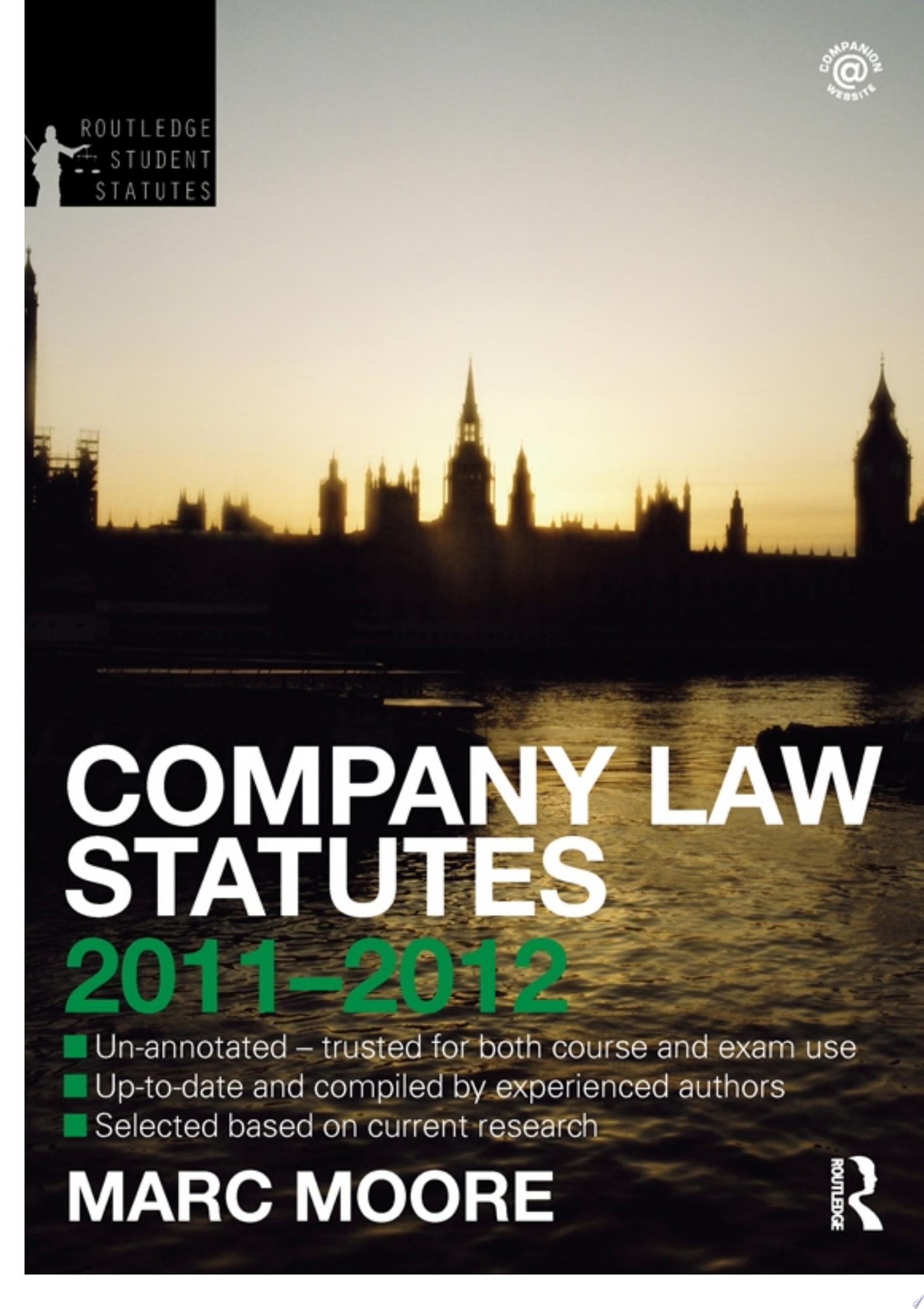 Company Law Statutes 2011 2012
