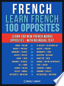 French   Learn French   100 Opposites