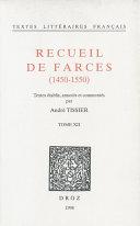 Recueil de farces (1450-1550) Pdf/ePub eBook