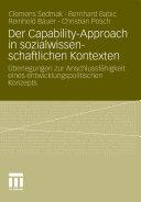 Der Capability-Approach in sozialwissenschaftlichen Kontexten: ...