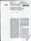 Air pollution control alternatives for shale oil production operations