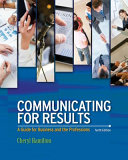 Communicating For Results A Guide For Business And The Professions PDF