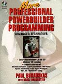 More Professional PowerBuilder Programming