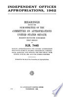 Independent Offices Appropriations 1962