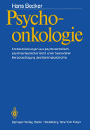 Psychoonkologie: Krebserkrankungen aus ...