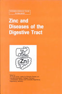 Zinc and Diseases of the Digestive Tract Book