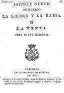 Saynete nuevo intitulado: la Liebre y la rabia, o la venta. (etc.)