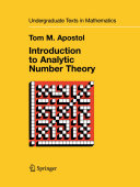 Introduction to Analytic Number Theory [Pdf/ePub] eBook