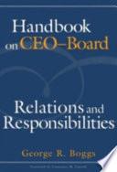 Handbook on CEO-board