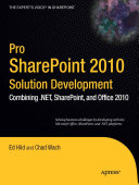 Pro SharePoint 2010 Solution Development
