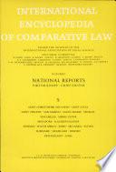 International Encyclopedia Of Comparative Law