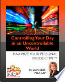 Controlling Your Day In An Uncontrollable World Book PDF