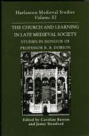The Church and Learning in Later Medieval Society