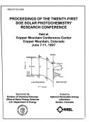 Proceedings of the Twenty First DOE Solar Photochemistry Research Conference