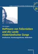 Hoffmann von Fallersleben und die Lande niederländischer ...