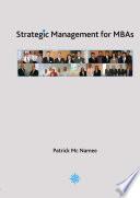 Strategic Management for MBAs Black and White