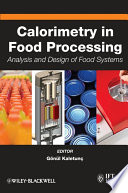 Calorimetry In Food Processing Book PDF