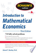 Schaum's Outline of Introduction to Mathematical Economics, 3rd Edition