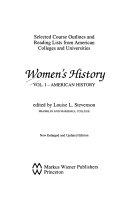 Women s History  American history Book