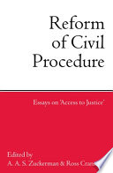 Reform of Civil Procedure