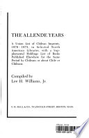 The Allende Years