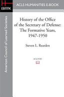 Pdf History of the Office of the Secretary of Defense