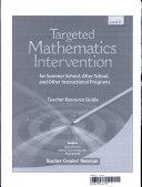 Targeted Math Intervention  Level K Kit
