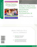 Effective Practices in Early Childhood Education Access Code