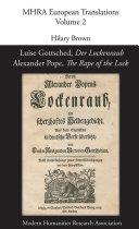 Luise Gottsched, Der Lockenraub / Alexander Pope, The Rape ...