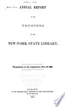 New York State Library [annual Report]