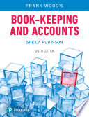"""""""Book-keeping and Accounts"""" by Frank Wood, Sheila Robinson"""