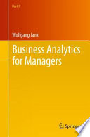 Business Analytics for Managers Book