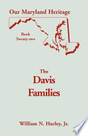 Davis Families of Montgomery County, Md