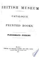 Catalogue of Printed Books in the Library of the British Museum ...