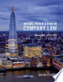 """""""Mayson, French and Ryan on Company Law"""" by Derek French"""