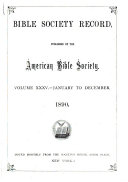 Bible Society Record