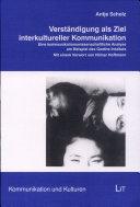 Verständigung als Ziel interkultureller Kommunikation