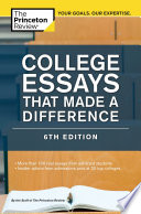 College Essays That Made a Difference  6th Edition