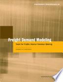 Freight Demand Modeling