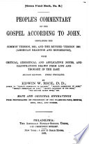 People S Commentary On The Gospel According To John