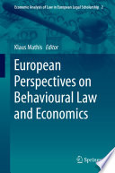 European Perspectives on Behavioural Law and Economics