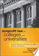 Nonprofit Law For Colleges And Universities Book PDF