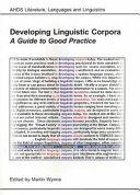 Developing Linguistic Corpora Book PDF
