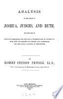 Analysis of the books of Joshua  Judges  and Ruth  for the use of students