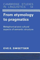 Cover of From Etymology to Pragmatics