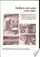 ILRI Medium term Plan 1999 2001 Book